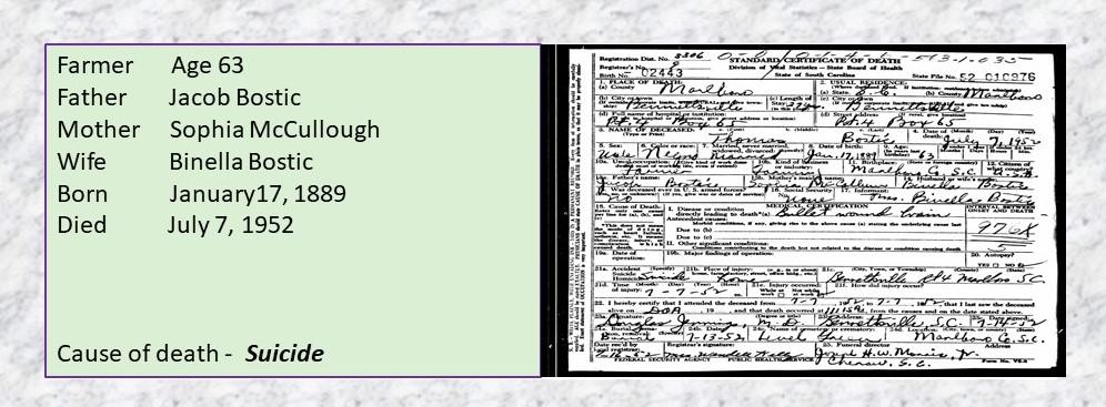 Bostic, Family Found, Genealogy